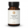 Vitamin D3 5000 IE Hochdosiert 120 Kapseln, Vegan