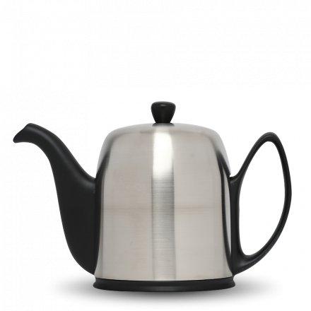 Degrenne Porzellan Teekanne Salam Schwarz 8 Tassen