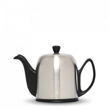 Degrenne Porzellan TeekanneSalam Schwarz 6 Tassen
