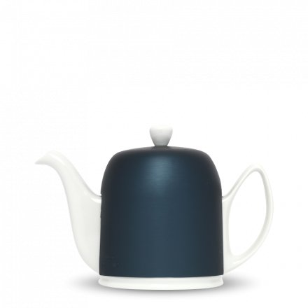 Degrenne Porzellan Teekanne Salam Blau 6 Tassen
