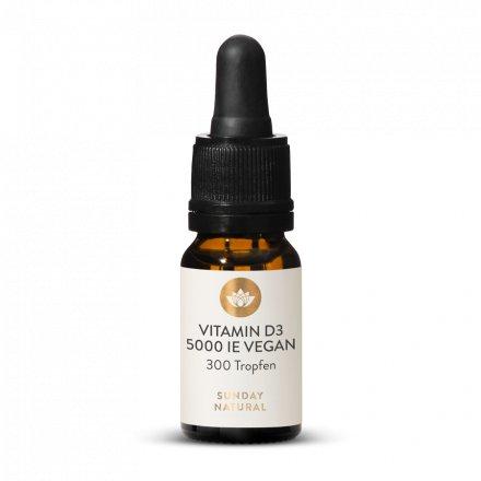 Vitamin D3 Hochdosiert 5000 IE 300 Tropfen Vegan