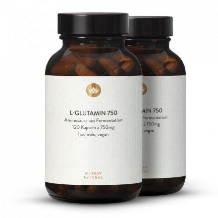 L-Glutamin 750 Kapseln Aus Fermentation, Vegan