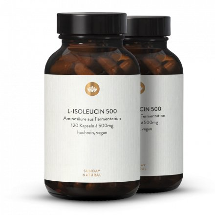 L-Isoleucin 500 Kapseln Aus Fermentation, Vegan