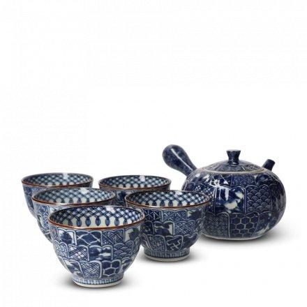 Teetassen Set Japan Porzellan 5er Tee Set Kikuborishonzui