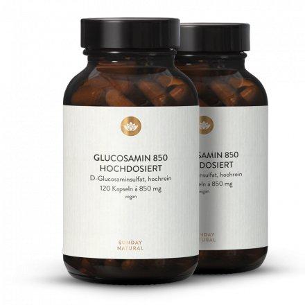 Glucosamin 850mg Hochdosiert, Aus Fermentation, Vegan