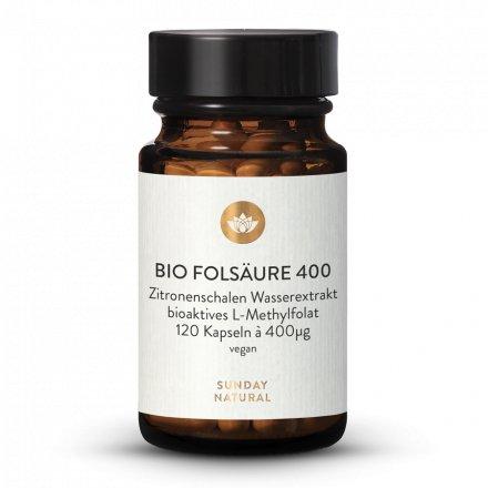 Bio Folsäure (Folat) 400µg Kapseln