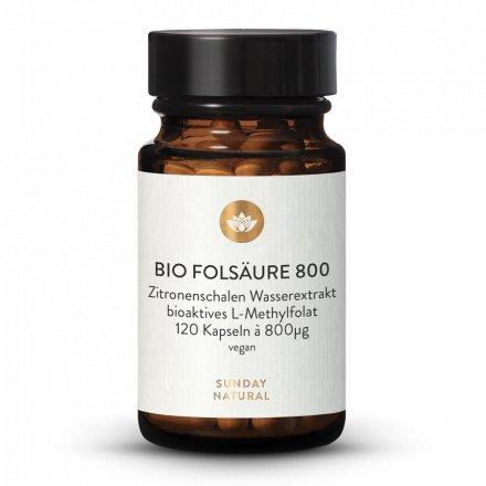 Bio Folsäure (Folat) 800µg Kapseln
