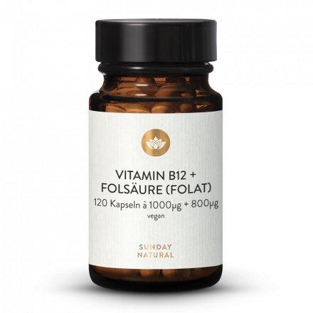 Vitamin B12 + Folsäure MH3A® + Quatrefolic® 1000µg + 800µg