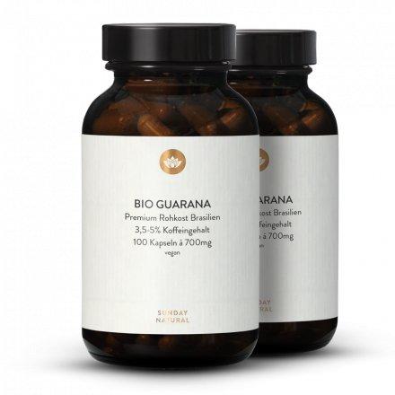 Bio Guarana Kapseln 700mg Kapseln 3,5-5% Koffein