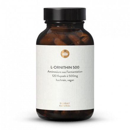 L-Ornithin 500 Kapseln Aus Fermentation, Vegan
