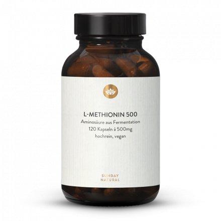 L-Methionin 500 Kapseln Aus Fermentation, Vegan