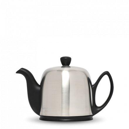 Degrenne Porzellan Teekanne Salam Schwarz 4 Tassen