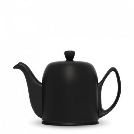 Degrenne Porzellan Teekanne Salam Schwarz Matt 6 Tassen