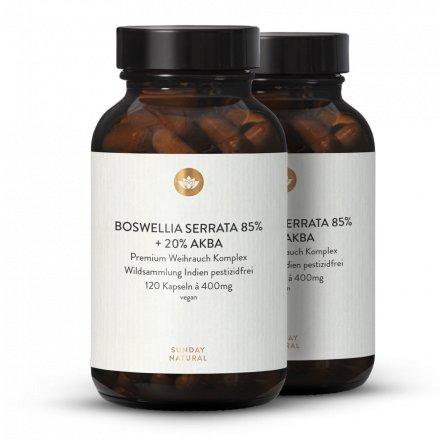 Weihrauch Kapseln Boswellia Serrata 85% + 20% AKBA