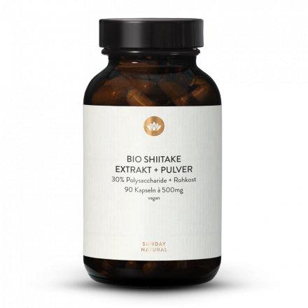 Bio Shiitake Extrakt + Pulver Kapseln