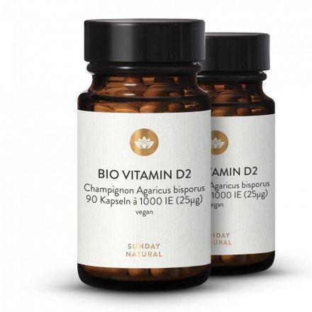 Bio Vitamin D2 Champignon 1000 IE Vegan