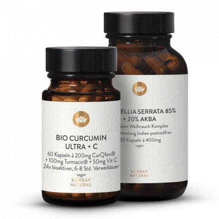 Curcuma Ultra + C Weihrauch Boswellia 85% + 20% AKBA