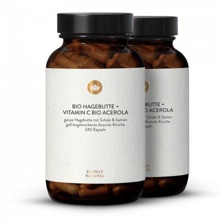 Bio Hagebutte + Vitamin C Bio Acerola
