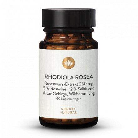 Rosenwurz Rhodiola Rosea 230mg Hochdosiert