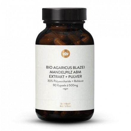 Bio Agaricus Blazei Mandelpilz, ABM  Extrakt + Pulver Kapseln