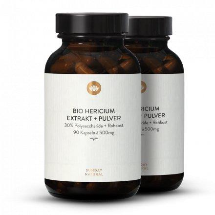 Bio Hericium Erinaceus Extrakt + Pulver Kapseln