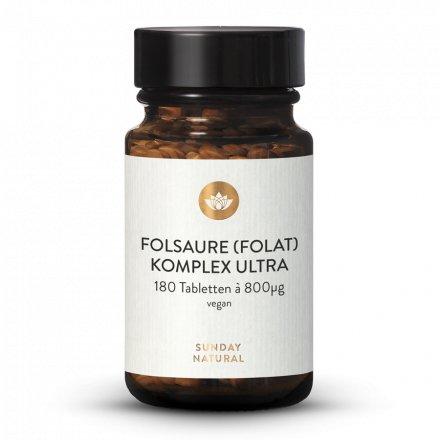 Folsäure (Folat) Komplex Ultra 800