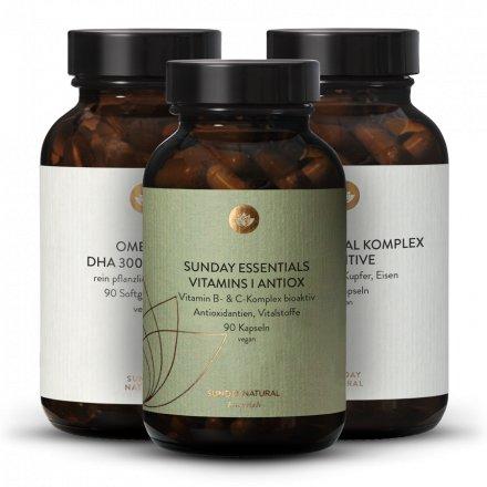 HPU Set Multiminerals + Vitamins I + Omega 3