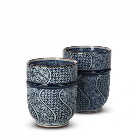 Teetassen Set Japan Jimon-Ori Set