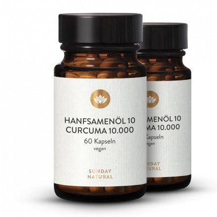 Hanfsamenöl 10 Curcuma 10.000