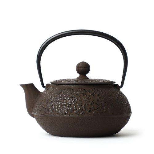 Japanische Gusseiserne Teekanne Sakura Braun Iwachu