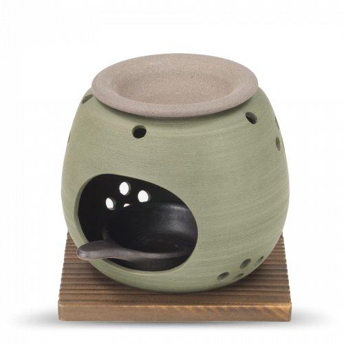 Räucherstövchen Tee & Sanftes Verglimmen Grün