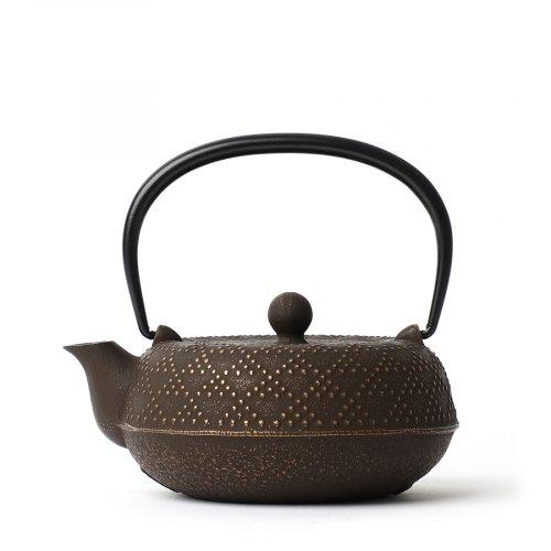 Japanische Gusseiserne Teekanne Koshi-Arare Goldcafe Iwachu