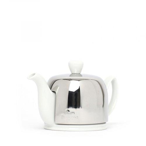 Degrenne Porzellan TeekanneSalam Weiß 2 Tassen