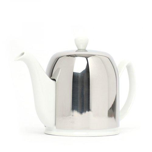Degrenne Porzellan TeekanneSalam Weiß 6 Tassen