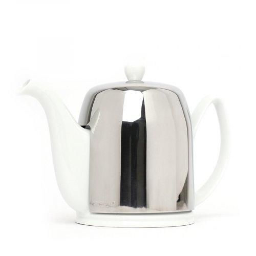 Degrenne Porzellan Teekanne Salam Weiß 8 Tassen