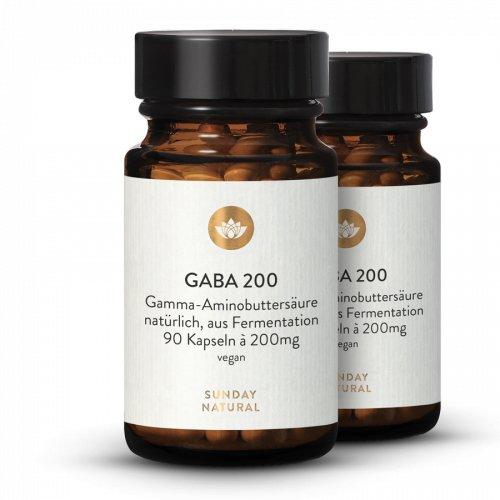 GABA Kapseln 200 Set Aus Fermentation, Vegan