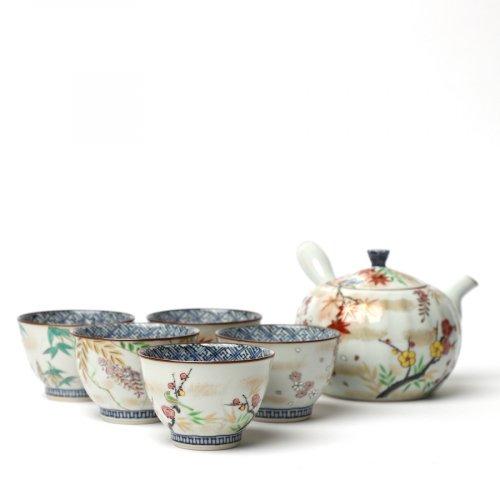 Teetassen Set Japan Porzellan 5er Tee Set Irodorikachō