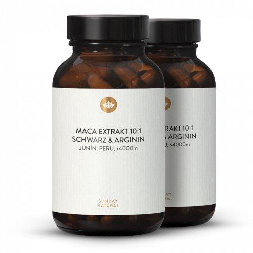 Maca Extrakt 10:1 Schwarz + Arginin