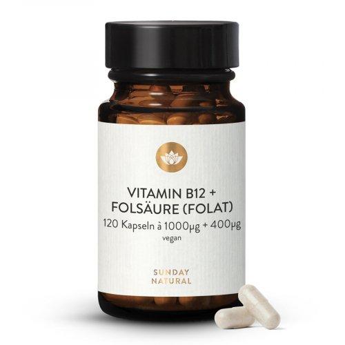Vitamin B12 + Folsäure MH3A® + Quatrefolic® 1000µg + 400µg