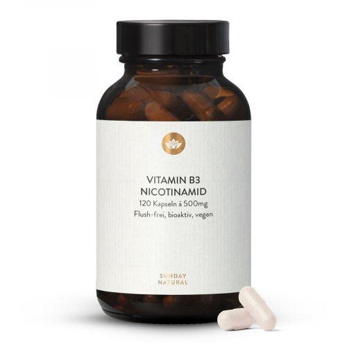 Vitamin B3 Nicotinamid Kapseln Hochdosiert