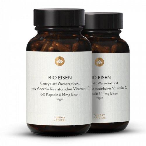Bio Eisen Kapseln 14mg Hochdosiert + Acerola Vitamin C