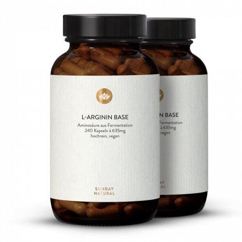 L-Arginin Base Kapseln Aus Fermentation, Vegan