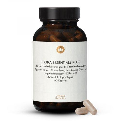 Flora Essentials Plus + B-Komplex Bioaktiv + Ballaststoffe Kapseln