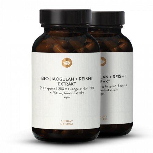 Jiaogulan Extrakt Bio + Reishi Extrakt Bio Kapseln