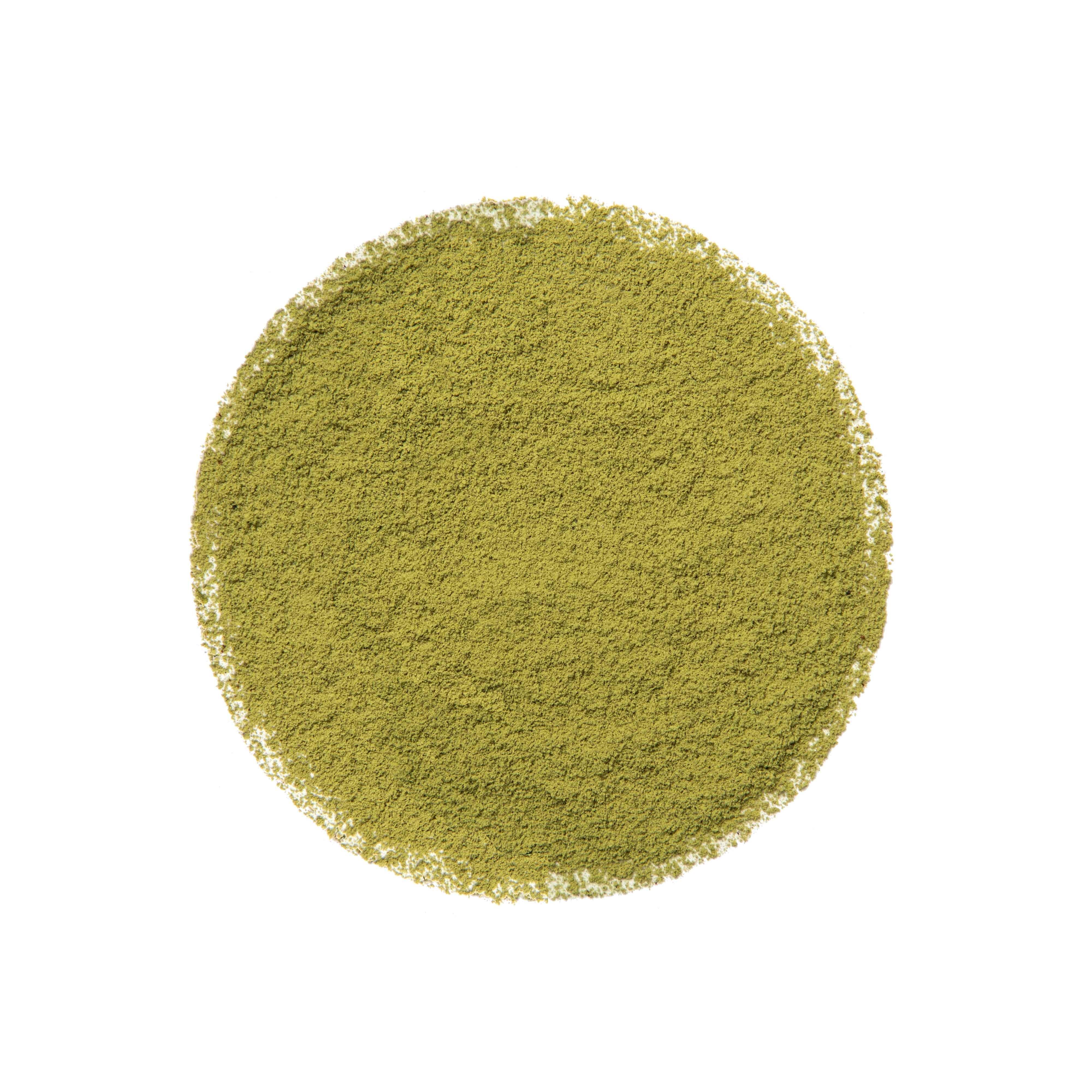 Grüner Tee-Pulver